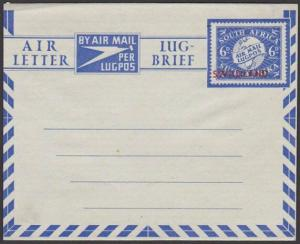 SWAZILAND 6d South Africa airletter overprinted for use in Swaziland.......67600
