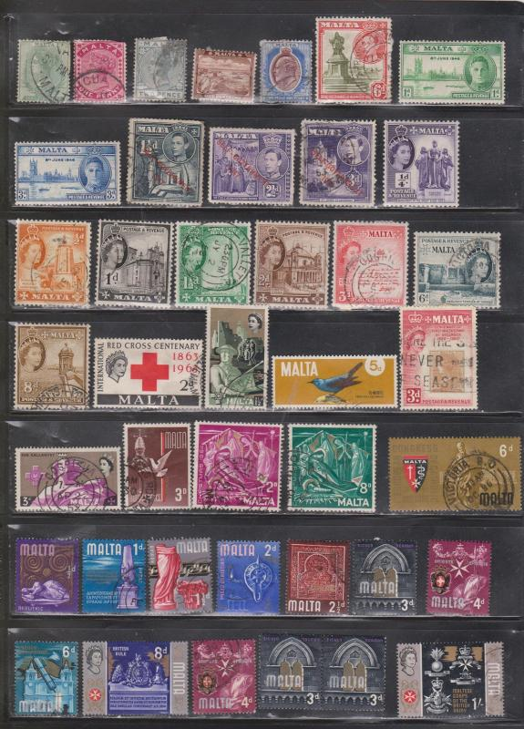 MALTA - Collection Of Used Stamps - Good Value - Some With Minor Faults