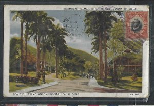 PANAMA  COVER (P2709B) 1922 PPC 2C  TO FRANCE