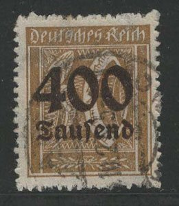 Germany Reich Scott # 275, used, exp h/s