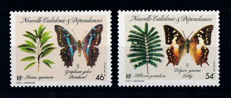 [70366] New Caledonia 1987 Insects Butterflies  MNH