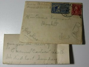 US Sc#406 Used On Cover Specail Delivery 1914 Pitts Chicago RPO Cleveland IND