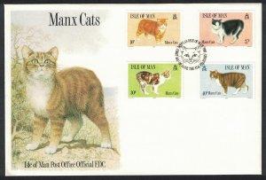 Isle of Man Cats 4v FDC SG#399-402