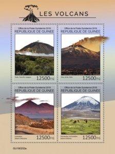 GUINEA - 2019 - Volcanoes - Perf 4v Sheet - M N H