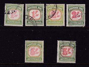 Australia x 6 higher value Post Dues