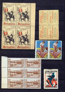 France 1930s Poster Labels Blocks MNH Chinon Marseille Anjou x 48(NT 5828