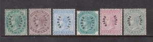 India Nabha #1 - #6 Mint Fine - Very Fine Original Gum hinged Rare Set