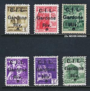 GARDONE ITALY NATIONAL LIBERATION COMMITEE CLN 1945 SET VF USED (SEE BELOW