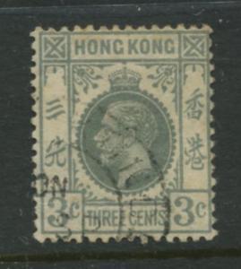 Hong Kong - Scott 132 - KGV Definitive  -1931 - FU - Single 3c Stamp