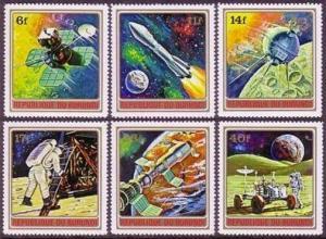 Burundi 379-384,384a,MNH.Michel 832-843 Bl.58A. Conquest of space,1972.