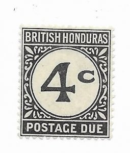 British Honduras #J3 MH - Stamp - CAT VALUE $2.50