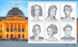 Belgium #1842   QUEENS   Souvenier Sheet of 6 (MNH) CV$18.00