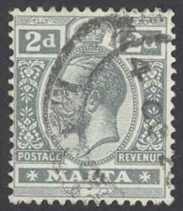 Malta Sc# 52 Used 1915 2p King George V