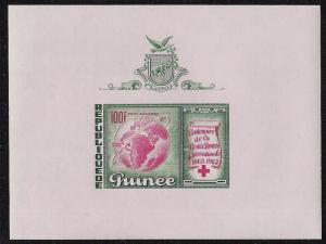 Guinea- Scott C51- 100th Anniversary of Int'l Red Cross- MNH Airmail Sheet 1963