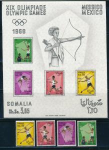 Somalia - Mexico Olympic Games MNH Set (1968)