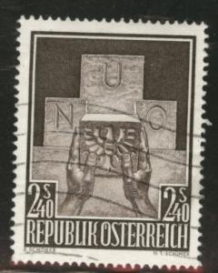 Austria Osterreich Scott 610 used 1956 Joining UN stamp