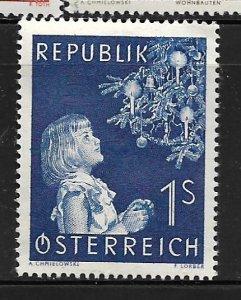 AUSTRIA, 597, MINT HINGED, CHRISTMAS