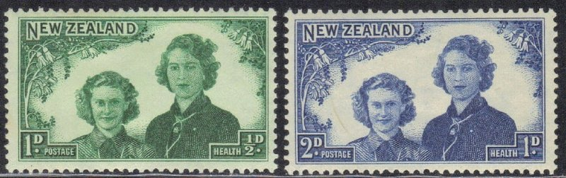 NEW ZEALAND SC# B24-25 MH 1944    SEE SCAN