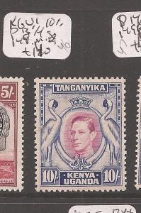 Kenya, Uganda and Tanganyika KGVI 10/- P 13 1/4 SG 149 MOG (1cfl)