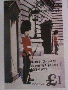 1977 SCOTLAND STAMP: QUEEN ELIZABETH II SILVER JUBILEE - MINT-NH S/S IMPERF:
