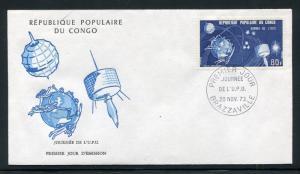 Congo PR FDC. UPU-100, 1974. Space, Satellites x28741
