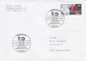 West Berlin 1987 100th anniversary of Record Discs FDC Used VGC
