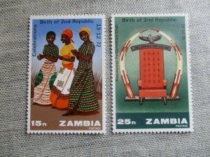 Zambia, Scott#115-116, MNH