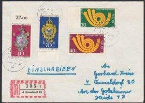 GERMANY 1973 registered cover - nice franking...............................K313