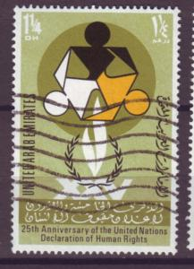 J20784 Jlstamps 1973 uae hv of set used #32 human rights