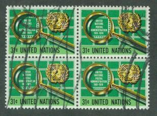 U.N. New York Scott 279 VF Used Block of 4