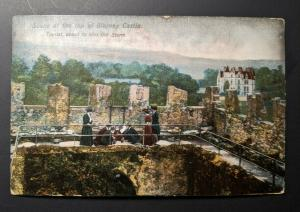 Vintage Blarney Castle Ireland to Canada Real Picture Postcard Cover