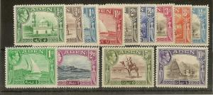 Aden 1939 Definitive Set SG16-27 Mint Cat£120