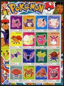 Timor (East) 2001 Pokemon #03 (characters nos 33-48) perf...