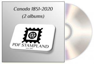 Canada 1851-2020 (2 albums) PDF STAMP ALBUM PAGES