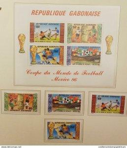 O) 1986 GABON -GABONAISE, 1986 WORLD CUP SOCCER CHAMPIONSHIPS, GOOL, DRIBBLING,