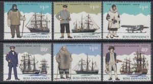 Ross Dependency L31-L36 Sailing Ships MNH VF