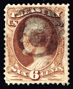 US STAMP BOB # O75 6c Official Treasury 1873 Used
