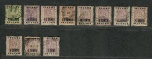 British Guiana Sc#112-128 Used/F-VF, Partial Set, Cv. $595.30