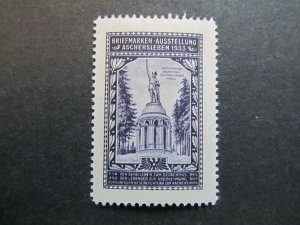 A4P2F22 Germany Poster Stamp 1933 International Philatelic Exhibition mh*