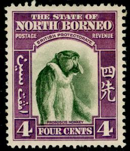NORTH BORNEO SG306, 4c bronze-green & violet, LH MINT. Cat £19.