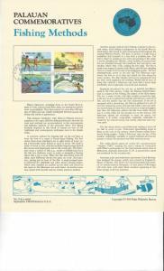 Palau Commemoratives Panel, Fishing Methods, AUSIPEX 84, FDC 1984