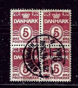Denmark 224  Used 1938 Block of 4    #4