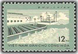 Vietnam 1964 MNH Stamps Scott 317 Pumping Station Dam Irrigation Agriculture