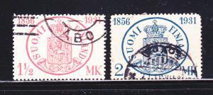 Finland 182-183 Set U Coat Of Arms (D)