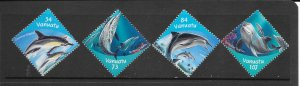 DOLPHINS - VANUATU #772-5   MNH