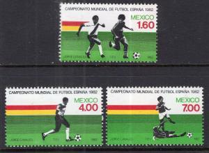 Mexico 1278-1280 Soccer MNH VF