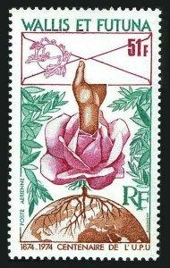 Wallis & Futuna C54,MNH.Michel 258. UPU-100,1974.Rose,Envelope.
