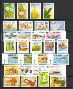 Barbados Scott 834 // 899 Mint NH (7 sets) Catalog Value $76.05
