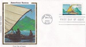 2000, American Samoa, Colorano Silk, FDC (E12298)