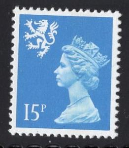 Great Britain Scotland  #SMH26   MNH Q E II  15 p deep ultra Machin